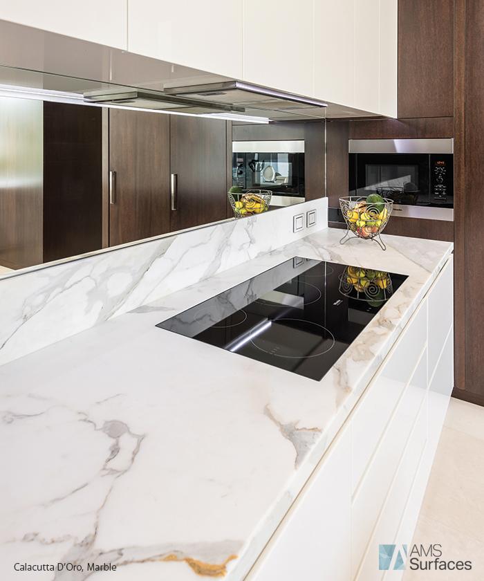 Carrara Marble Kitchen Benchtops: Natural Stone – Adelaide Tiles, Benchtops Adelaide, Caesar Stone Benchtops